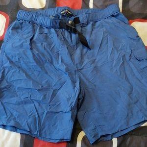 Ralph Lauren Polo swim trunks.
